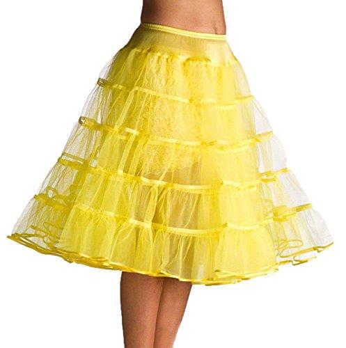 Bridal mall femme vintage 50s tee-longueur avec jupon pour abendkleider jupon tutu Jaune