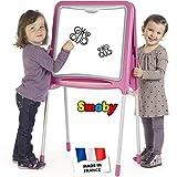 Tafel, doppelseitig mit Kreideseite und Whiteboard, 48x105 cm, pink: Kindertafel Maltafel Malen Kreidetafel Magnettafel Standtafel