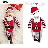 Natale Neonato Bambino 2pcs Set Abbigliamento Jumpsuit + Cappello Forma Invernale Abiti Set