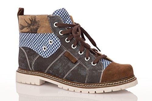 Trachten Herren Boots - JOSHUA - dunkelblau, Größe 42