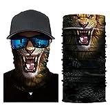 Colorful Erwachsene Multifunktionstuch | Sturmmaske | Bandana | Schlauchtuch | Halstuch für Motorrad Fahrrad Ski Paintball Gamer Karneval Kostüm 3D Tiere Maske (G)