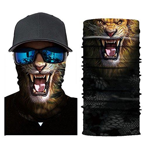 (Colorful Erwachsene Multifunktionstuch | Sturmmaske | Bandana | Schlauchtuch | Halstuch für Motorrad Fahrrad Ski Paintball Gamer Karneval Kostüm 3D Tiere Maske (G))
