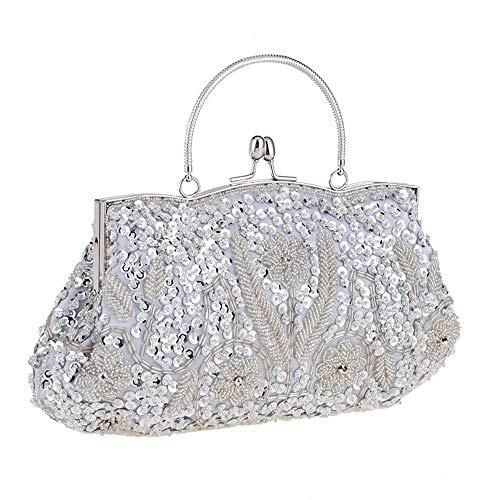 Borsa da ricamo da donna alla moda borsa da abito uniforme borsa da sera ricamata con perline in raso paillettes cheongsam partita intatta borsa retrò borsa da sposa borsa da damigella diagonale tempo