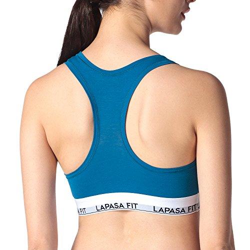 Lapasa Donna Reggiseno Sportivo Bralette *Micro Modal* Top Simple Basic blu(bra)