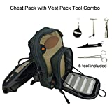 Aventik Fly Fishing Petto Bag Ultra Light Multitasche con Gilet Pacco Petto Tool Combo