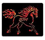 Liili Mauspad Naturkautschuk Mousepad Bild-ID: 23240965Illustration Weihnachten Burning Pferd für Postkarten auf der schwarz