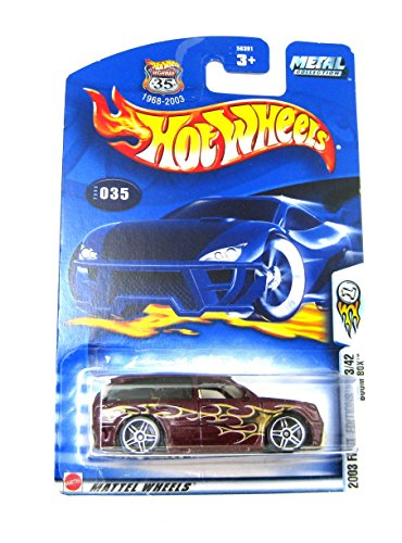 Hot Wheels 2003 First Editions Boom Box 23/43 #035 #35 MAROON 1:64 Scale by Hot Wheels
