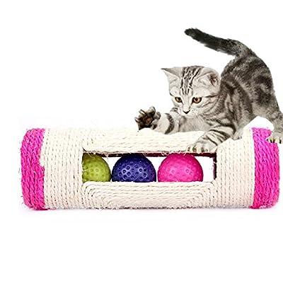 Milopon Scratch Toys Cat Rolling Scratching Post Cat Rolling Balls Cat Scratching Board Cat Toys Random colour