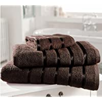 Kensington Egyptian Cotton Satin Stripe Bath Sheet Towel, Chocolate 600 gsm Luxury Towel - Linenstowels2011