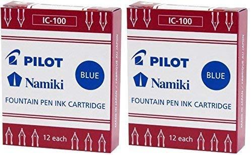 Pilot Namiki IC100Füllfederhalter Tintenpatrone, blau, 12Patronen Pro Packung (2Stück) (Füllhalter Namiki)