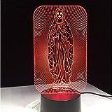 Ytdzsw Led Nachtlampe Kinderzimmer Schlafzimmer Nachtlampe Heilige Mutter Maria Mutter Gottes Wohnkultur Beste Geschenk 7 Farben Ändern