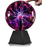 Plasma-Kugel – 15,2 cm – Nebula, Donner Lightning, Plug-In – für Partys, Dekorationen, Requisiten, Kinder, Schlafzimmer, Zuhause und Geschenke, Weihnachtsgeschenk
