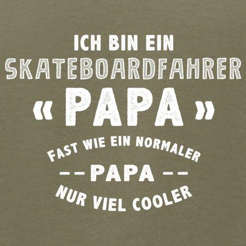 Ich bin ein Skateboardfahrer Papa - Herren T-Shirt - 13 Farben Khaki