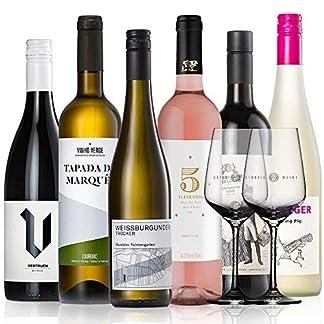 GEILE-WEINE-Weinpaket-EINSTEIGERSET-6-x-075-Probierpaket-mit-Weiwein-Rotwein-und-Ros-von-Winzern-aus-Deutschland-Frankreich-und-Portugal