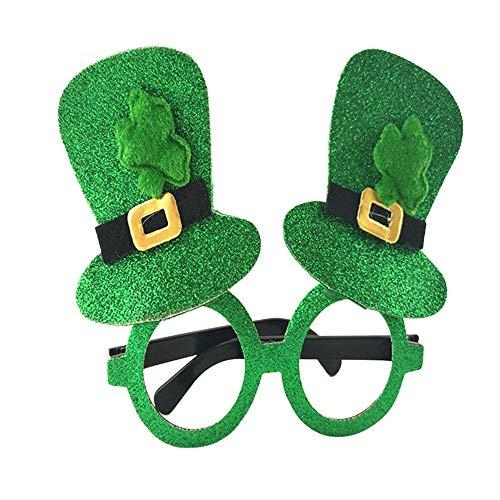Tag St Patricks Kostüm - P12cheng Brille, Kleeblatt, Brille, Partykleid, Kostüm, Zubehör