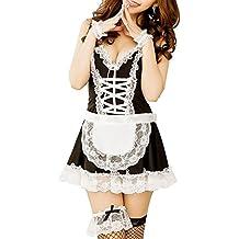 Paplan In bianco e nero prua nodi del Halter del merletto di fantasia domestica Cosplay Set