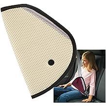 Regulador de asiento de coche y cinturón de seguridad. Para la comodidad de los niños que viajan. Color Beige.