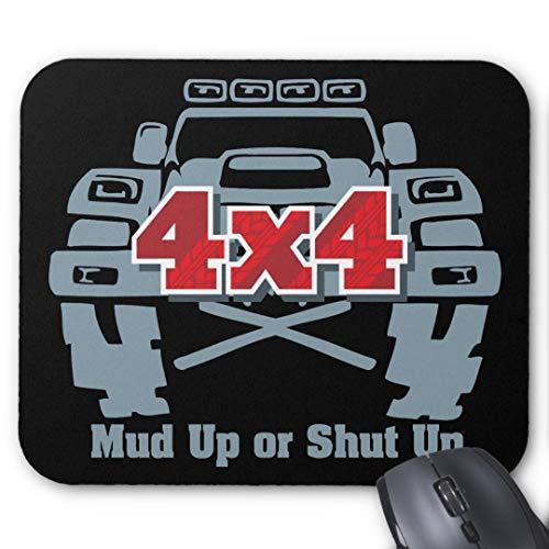 Tappetino per mouse in gomma antiscivolo, rettangolare, per computer portatili (20 x 24 cm), fango o chiuso 4 x 4 fuorist