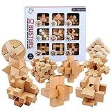 Yvsoo Rompecabezas Madera, 9 Piezas Rompecabezas Calendario Adviento Puzzle 3D Juguetes Set Juegos de Habilidad para Niños y Adultos