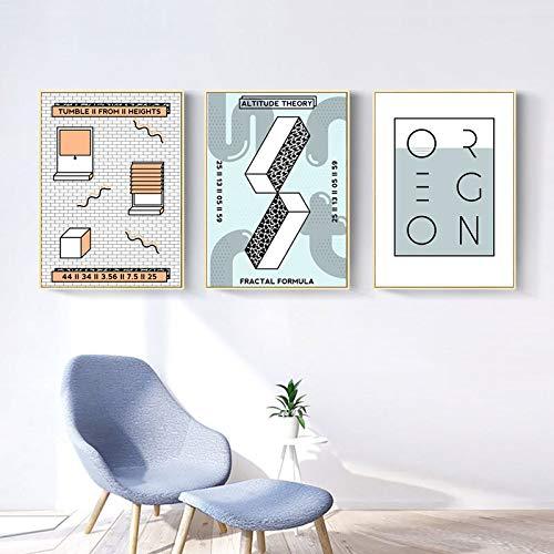 XWArtpic Impresiones Modernas abstractas de la Lona nórdica Pinturas Pop Carteles e Impresiones Imágenes...