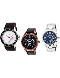 HASHTAG Analogue Multi-Colour Dial Men's Watch- HTC-TRIPLET5-Combo 3 Watches