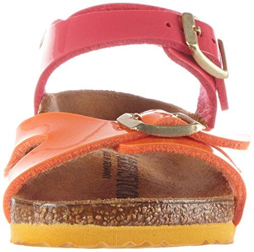 Birkenstock Kids Mädchen Rio Riemchensandalen, Mehrfarbig (Tropical Orange Pink), 26 EU -