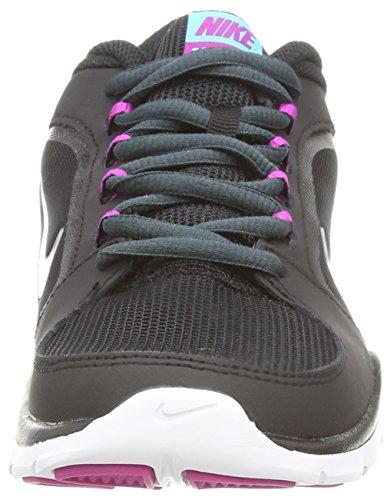 Nike Wmns Flex Trainer 4, Scarpe sportive, Donna Blk/Fchs Flsh-Clssc Chrcl-Clrw