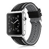 LEEHUR- Apple Watch Armband 42mm, Serie 1/2/3/4 Sport Armbanduhr Silikonarmband Ersatzarmband Armband für Apple iWatch / Apple Uhr Nike +
