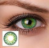 2 Grüne Kontaktlinsen ohne Stärke