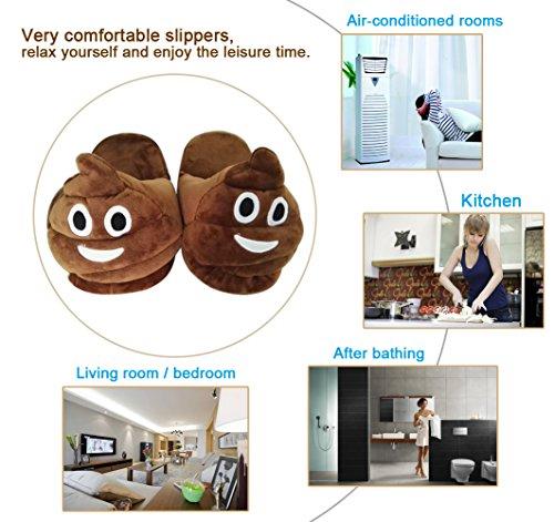 Slippers Vier Jahreszeiten - EU 36-41 Männer und Frauen Emoticons Shit Plüsch Indoor Hause Pantoffeln Lächeln