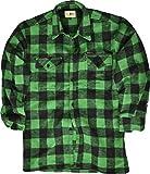 McAllister Kariertes Holzfällerhemd Freizeithemd Arbeitshemd Flanellhemd (Grün/S)