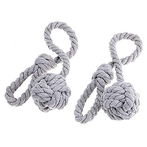 Muxitrade coppia di nappe fermatenda in corda, fatte a mano e con un'unica pallina, per tenere legate le tende grey by