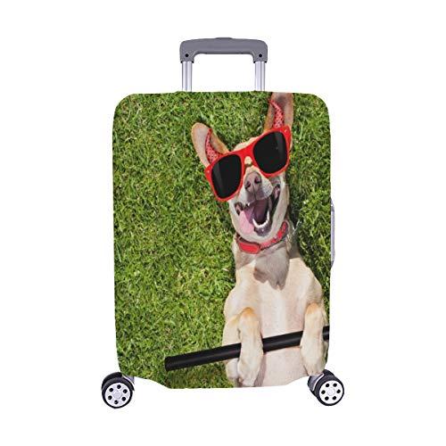 (Nur abdecken) Chihuahua Hund Geist Halloween Scary Spooky Staubschutz Trolley Protector case Reisegepäck Beschützer Koffer Abdeckung 28,5 X 20,5 ()