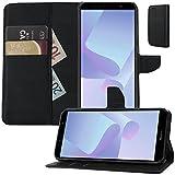 MOX Buch Klapp Tasche Schutz Hülle Wallet Flip Case Etui für Huawei Y6 2018 Dual SIM ATU-L21