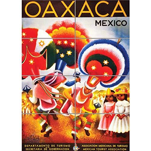 ravel Oaxaca Mexico Aztec Fiesta Carnival Dance Vintage Advert Wand Kunst Multi Panel Poster drucken 33x47 inches ()