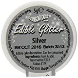 Rainbow Dust Edible Glitter, Silber, 5 g