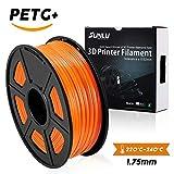 SUNLU PETG 3D filament SUNLU 1.75mm 1KG(2.2lb), PETG 3D Printer Filament, Dimensional Accuracy +/- 0.02 mm, 1 kg Spool, 1.75 mm, Orange PETG
