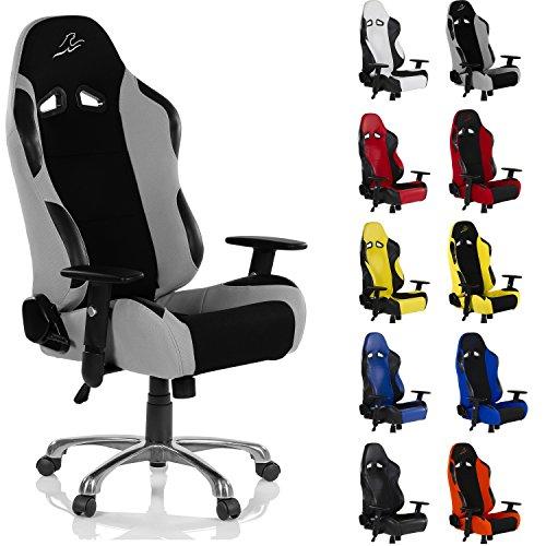 RACEMASTER® Racing Bürostuhl RS Series Gaming Stuhl unterschiedliche Farben Stoff oder Kunstlederbezug Schreibtischstuhl verstellbare Armlehnen, höhenverstellbar, Wippmechanik UVM. Gaming Sessel
