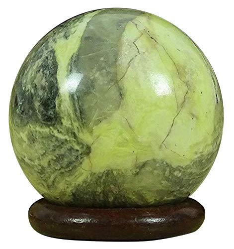 Reikiera Kristallheilung Serpentine Steinkugel natürliche Edelstein Kugel mit Ring stehen Reiki Tabelle Dekor - Größe wählen