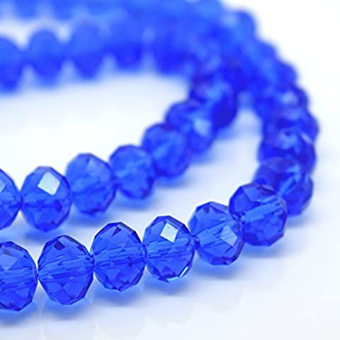 FACETED RONDELLE CRYSTAL GLASS BEADS PICK COLOUR & SIZE -