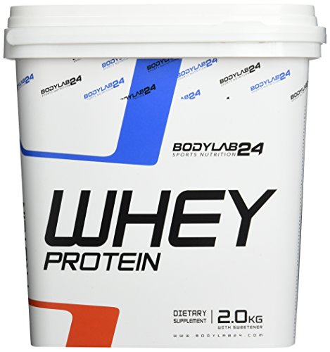 Bodylab24 Whey Protein Eiweißpulver, Geschmack: Kirsche-Joghurt , hochwertiges Proteinpulver, Low Carb Eiweiß-Shake für Muskelaufbau und Fitness, 2000g