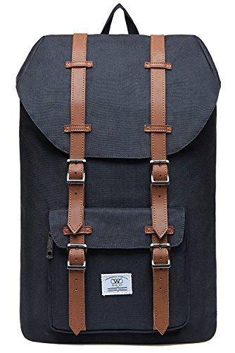 Laptop Rucksack 17 Zoll, Lässiger Damen Herren Schulrucksack WIN·DF Daypacks Stylish Rucksäcke Für Wanderreise Camping Fit für 15