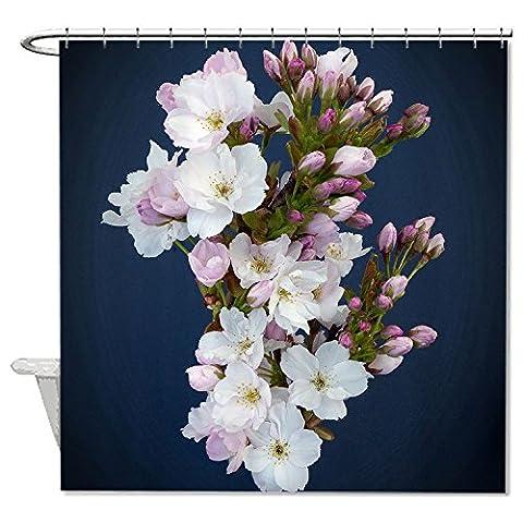 whiangfsoo Kirschblüten weiß Blume auf Blau Hintergrund Design Wasserdicht Polyester