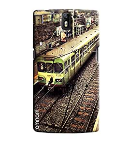 Omanm Paris Metro Of Green Color On Station Printed Designer Back Cover Case For One Plus One