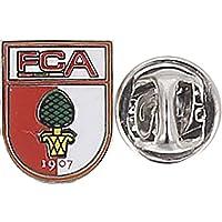 Pin FC Augsburg - 1.4 x 1.1 cm + gratis Aufkleber, Flaggenfritze®