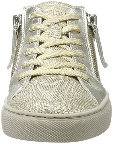 CRIME London Damen Java Lo Sneaker Gold (Platin)