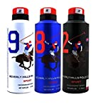 Pack of 3 Beverly Hills Polo Club Sports Deodorants 175 ml each