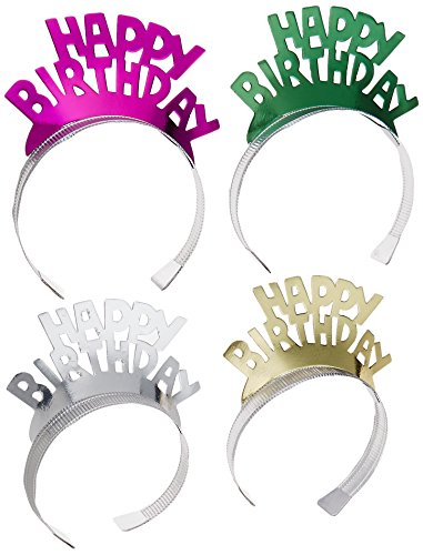 edene Farben//pkg-happy Geburtstag 4 (Gold Happy Birthday Tiara)