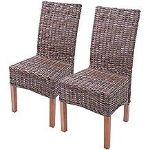 lot de 6 chaises m44 salle manger rotin kububois 47x52x97cm - Chaise Rotin