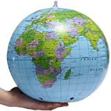 """Inflatable World Globe Earth Map Geography Teacher Aid Ball Toy Gift 38cm/15"""""""